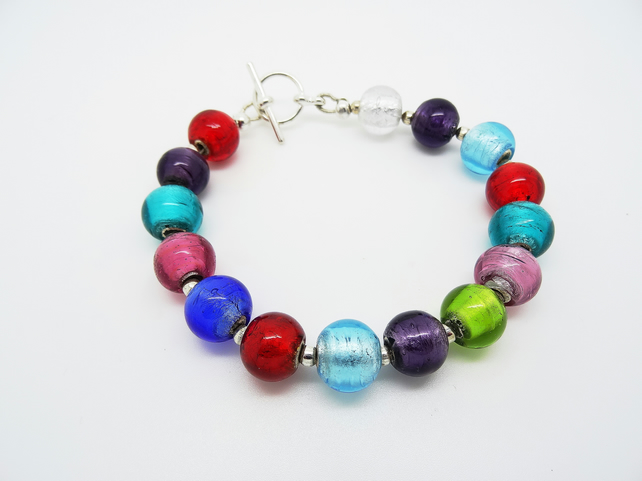 SALE!!! Foiled Bead Bracelet