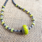 Czech Glass Necklace, Chrysoprase Necklace, Chartreuse Necklace.
