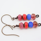 Faceted Rondell Earrings, Czech Glass Earrings, Picasso Finish Earrings.