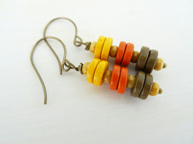 Ceramic Earrings,Ceramic washer earrings,ceramic disc earrings,ladies earrings