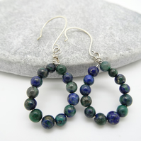 Lapis Malachite Earrings