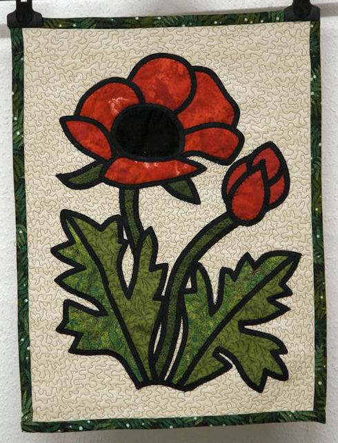 Wallhanging Bright Red Poppy