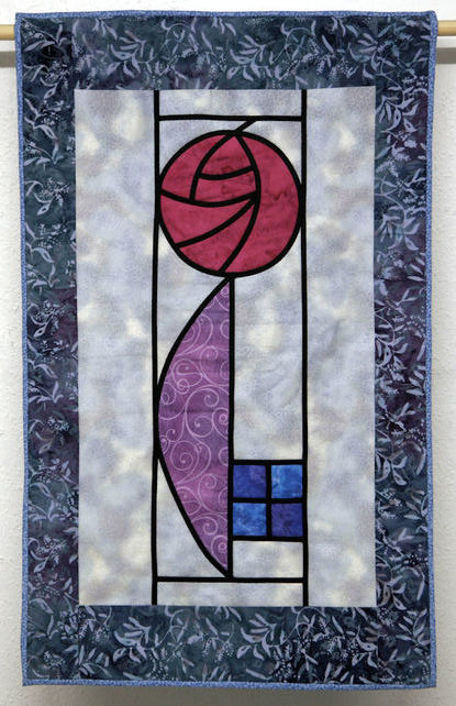 Macintosh style Rose Wallhanging.