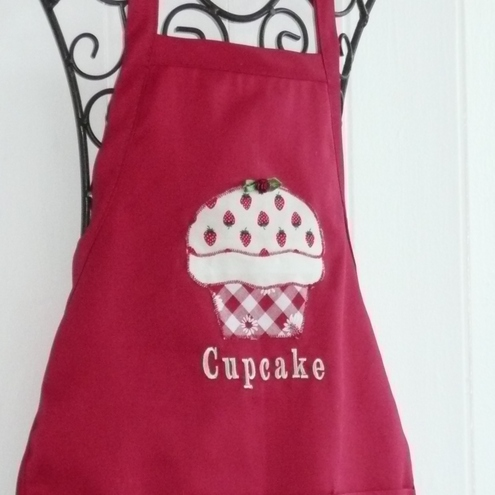 Small Red Cupcake Apron