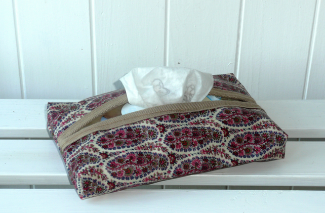 Paisley Print Tissue or Wipe Packet Cover