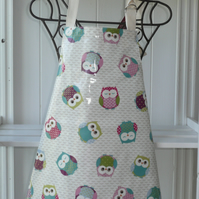 Owl  print  Small Childrens Apron