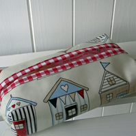 Beach Hut Print  Tissue or Wipe Packet Cover