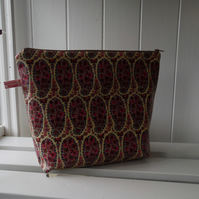 Liberty Paisley Print Cosmetic Bag