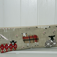 Knitting Needle Pouch Bag Baa Baa Sheep in Tweeds Print