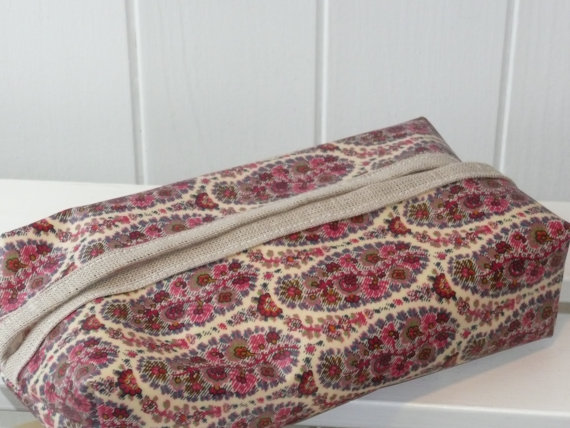 Liberty Paisley Print Oilcloth Baby Wipe Pack Cover
