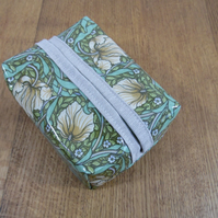 William Morris Pimpernel (green) Print Oilcloth Facial Wipe Pack Cover