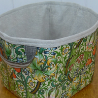 William Morris Golden Lily Large Oilcloth Storage Basket