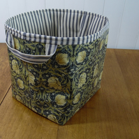 William Morris Pimpernel Blue Print Ex-large Oilcloth Storage Basket Bin