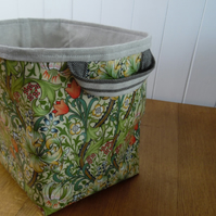William Morris Golden Lily Print Ex-large Oilcloth Storage Basket Bin