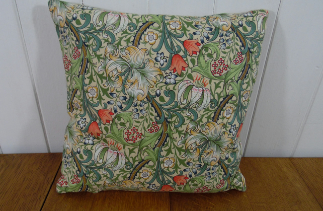 Little square cushion William Morris Golden Lily (12 inch 30cm)