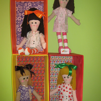 Traditional Handmade Rag Doll. Miss Humbug