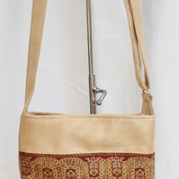 Camel tapestry bag