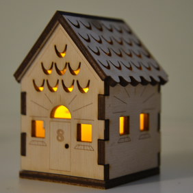 Laser cut wooden nightlight (small)
