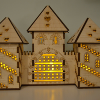 Laser cut princess castle nightlight