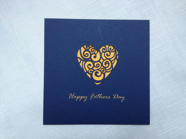 Laser cut Father's Day card (heart)
