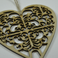 Laser cut wooden heart