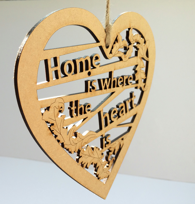 Large wooden heart - Home is where the heart is
