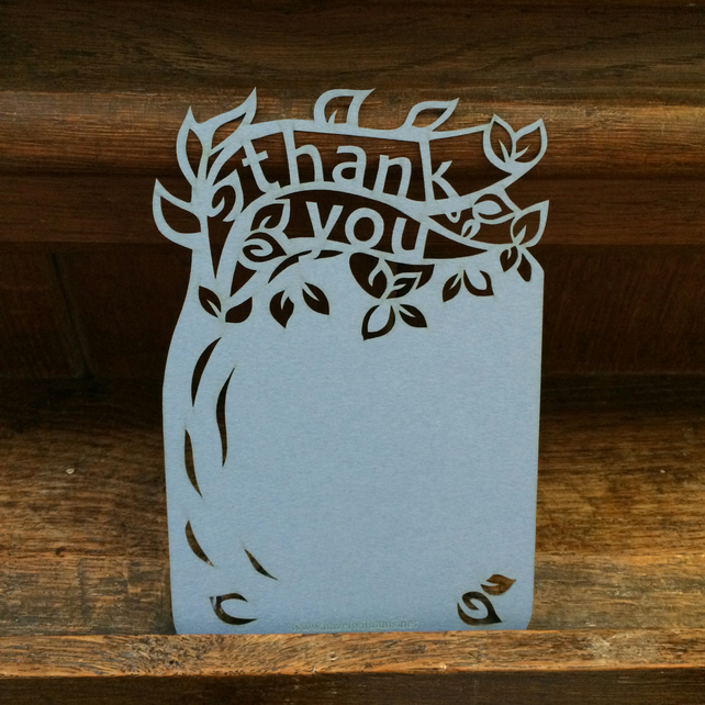 Tree 'thank you' postcards (pack of 4)