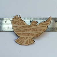 'Laser Tweet' brooch - Psalm 27:1