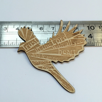 'Laser Tweet' brooch - Proverbs 3:5