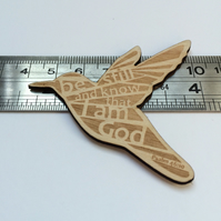 'Laser Tweet' brooch - Psalm 46:10