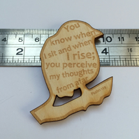 'Laser Tweet' brooch - Psalm 139