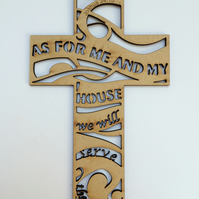 Wooden cross - As for me and my house
