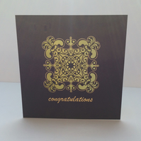 Intricate congratulations card
