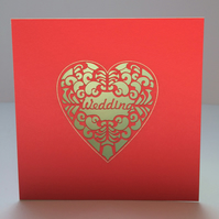 Heart wedding card