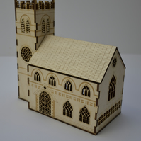Laser cut church nightlight