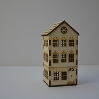 Laser cut town house nightlight