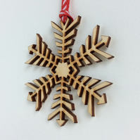 Mini wooden snowflake