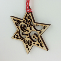 Mini wooden star