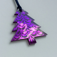 Purple mirrored tree - branch design