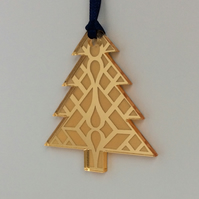 Gold mirrored tree - geometric design