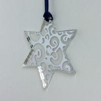 Silver mirrored star