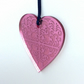 Pink mirrored heart