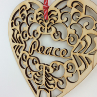 'Peace' heart (medium)