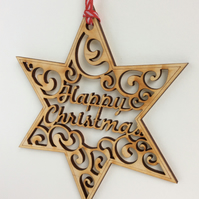 'Happy Christmas' star (medium)