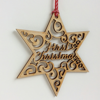 'First Christmas' star (medium)