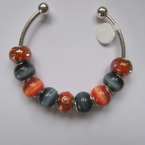 Orange and grey Pandora bangle
