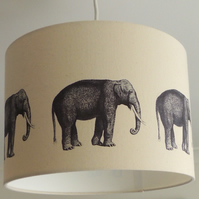 30cm drum lamp shade with elephants