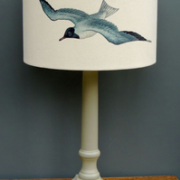 30cm drum lamp shade with seagulls