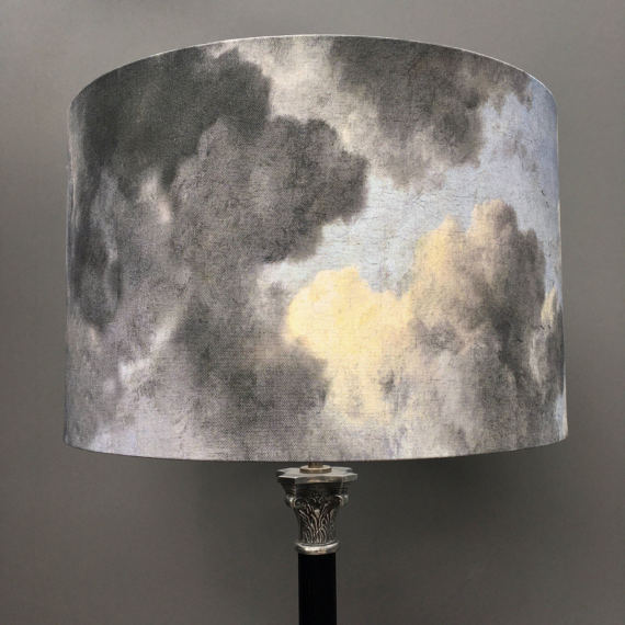 Clouds lampshade - 40cm diameter drum lampshade