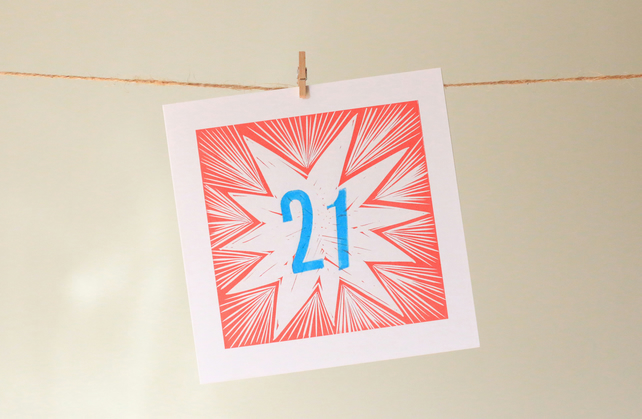 '21' birthday card